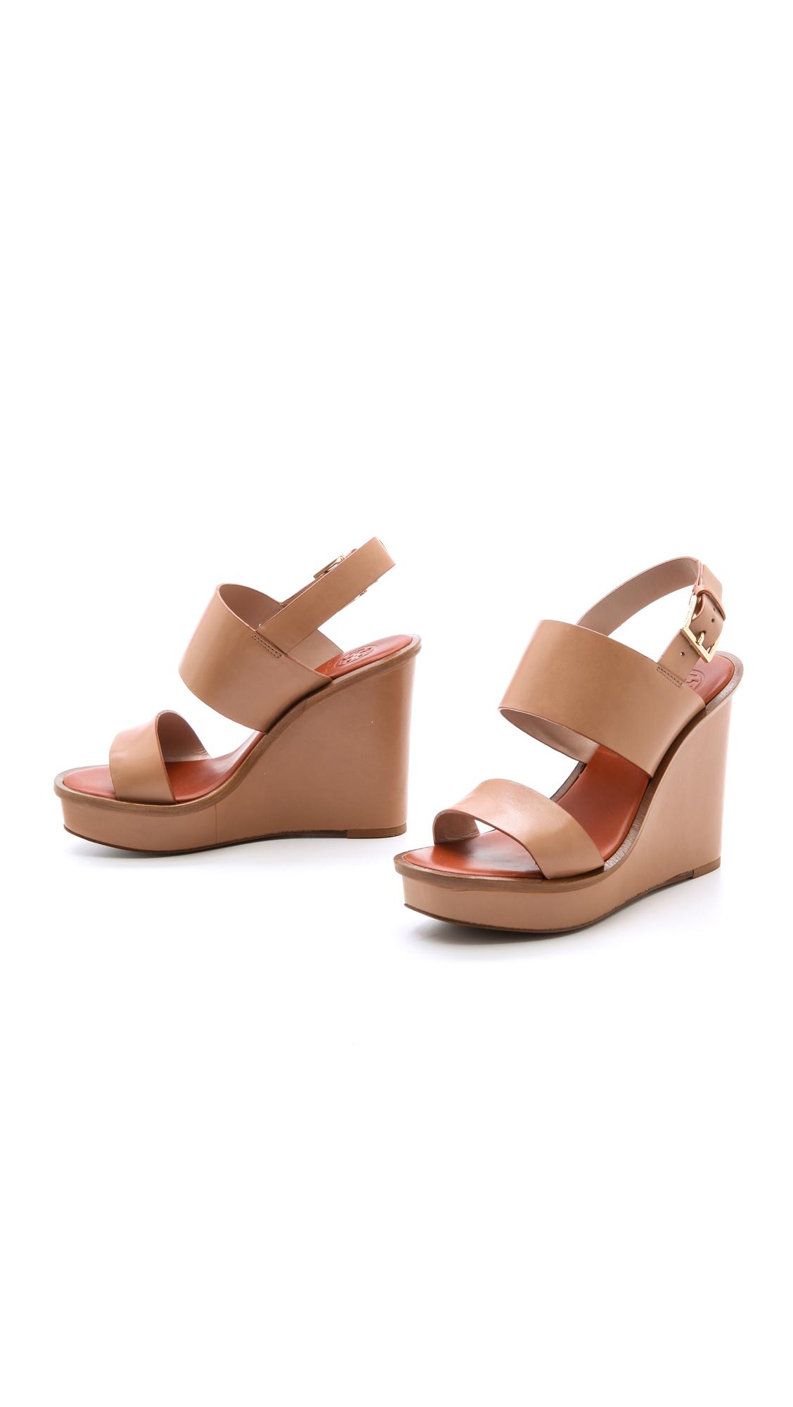 0f398b622dd634 Tory Burch Lexington Wedge Sandals