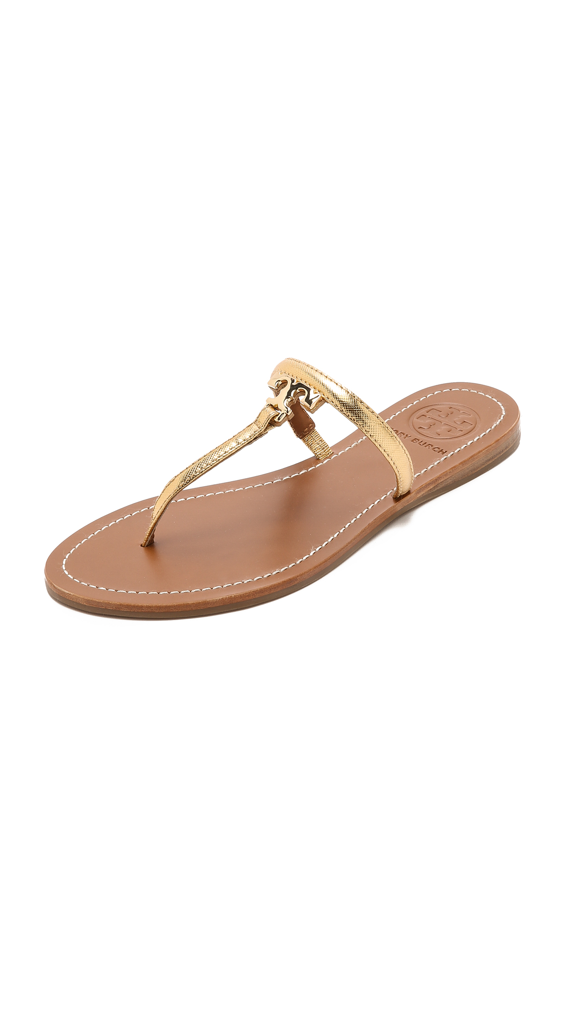 119d6b872c14 Tory Burch T Logo Flat Thong Sandals on PopScreen