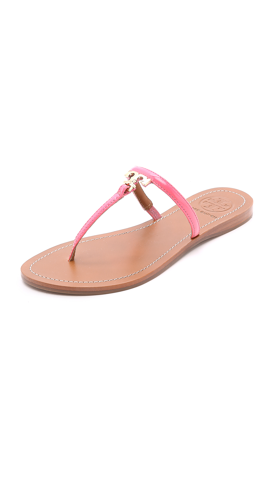 6f91deb82 Tory Burch T Logo Flat Thong Sandals