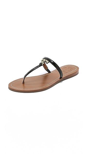 Tory Burch T Logo Flat Thong Sandals