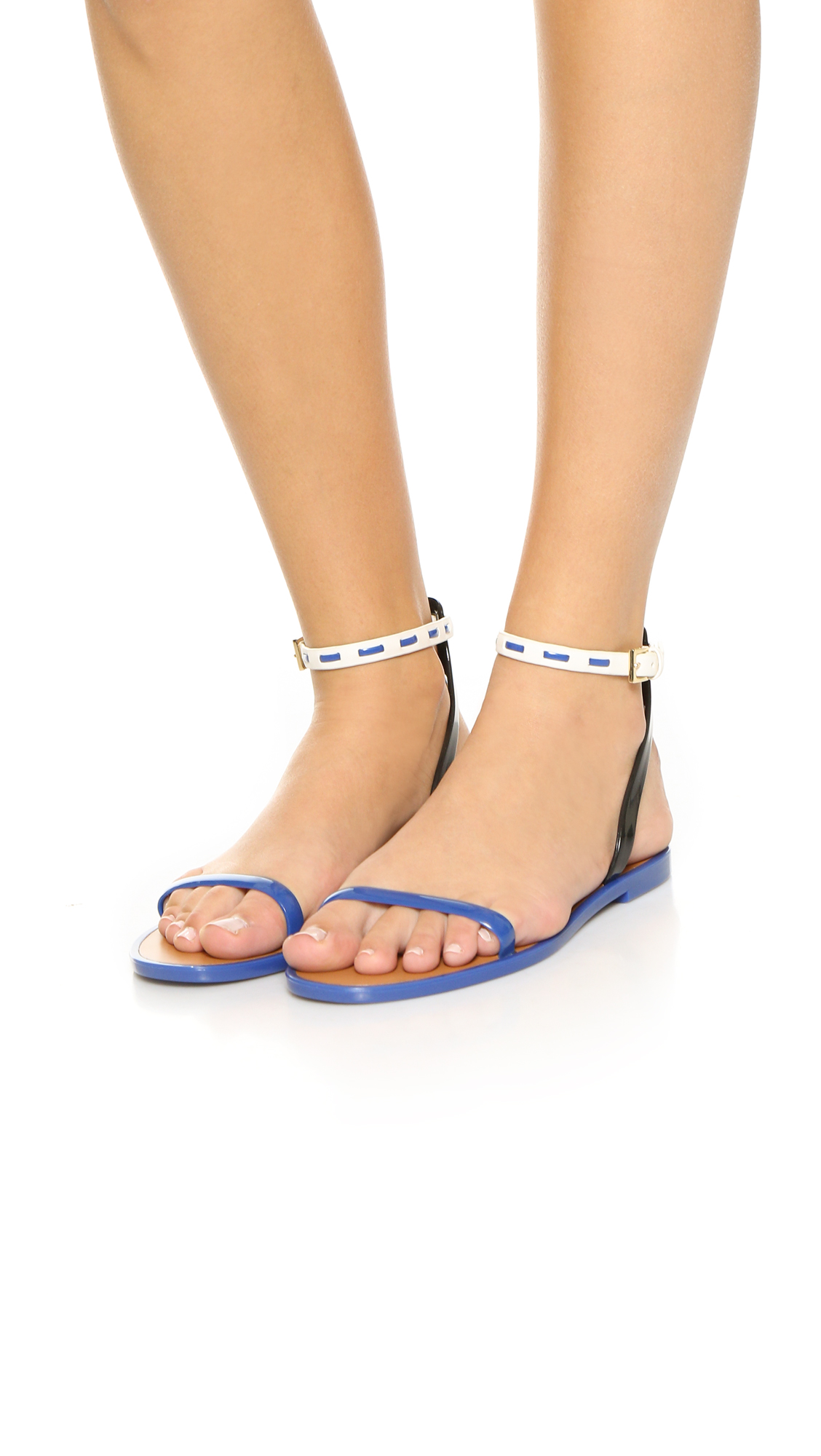 e5f7821dcdc Tory Burch Leather Ankle Strap Jelly Sandals