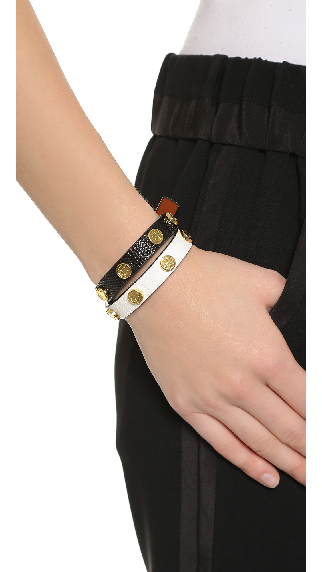 467b93152077 ... logo stud bracelet light oak rose gold women accessories jewelry tory  burch · tory burch double wrap leather ...