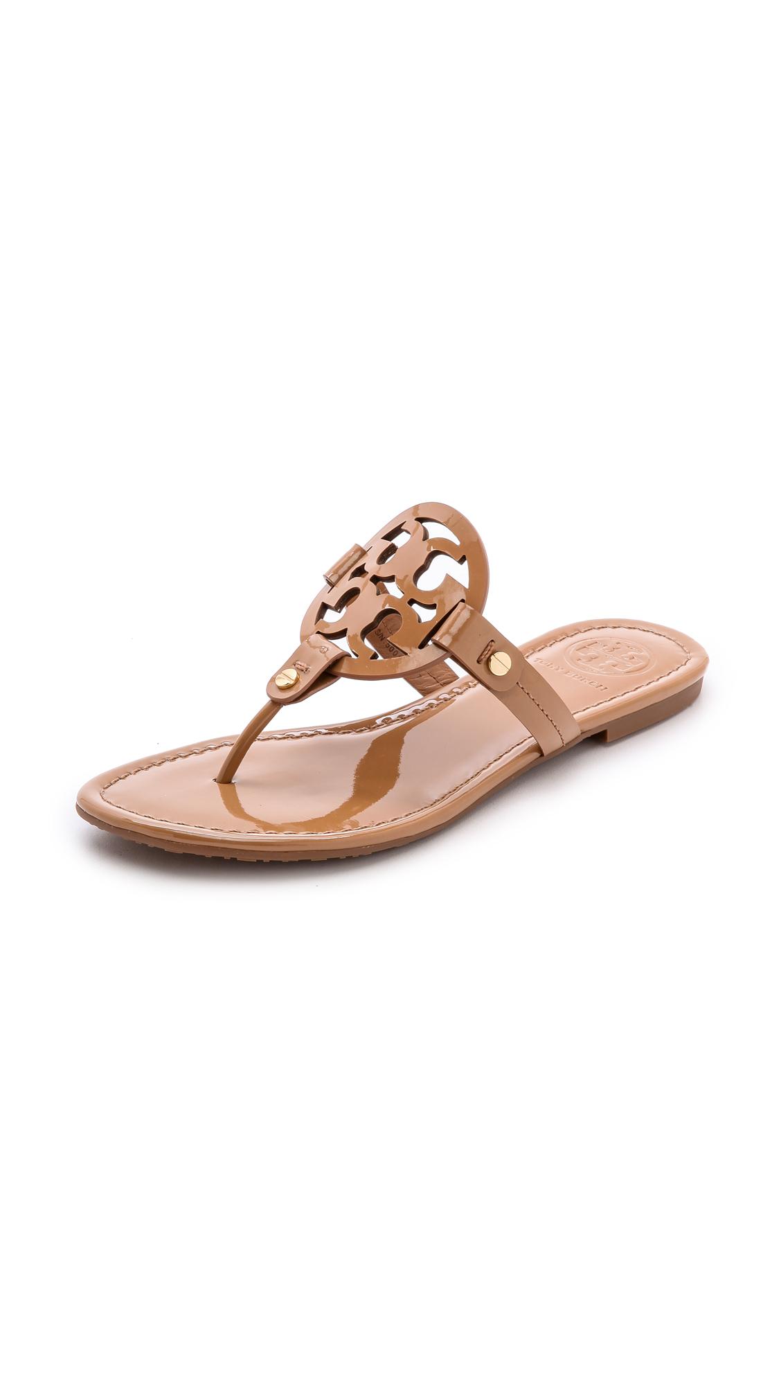 tory burch female tory burch miller thong sandals sand