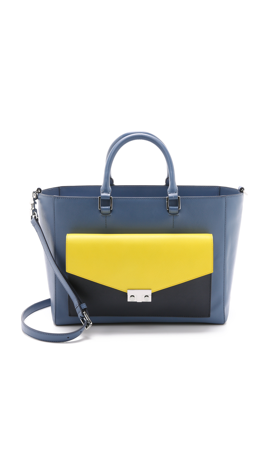 291d79aa9c59 Tory Burch T Lock Colorblock East   West Tote