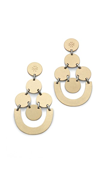 Tory Burch Disc Chandelier Earrings