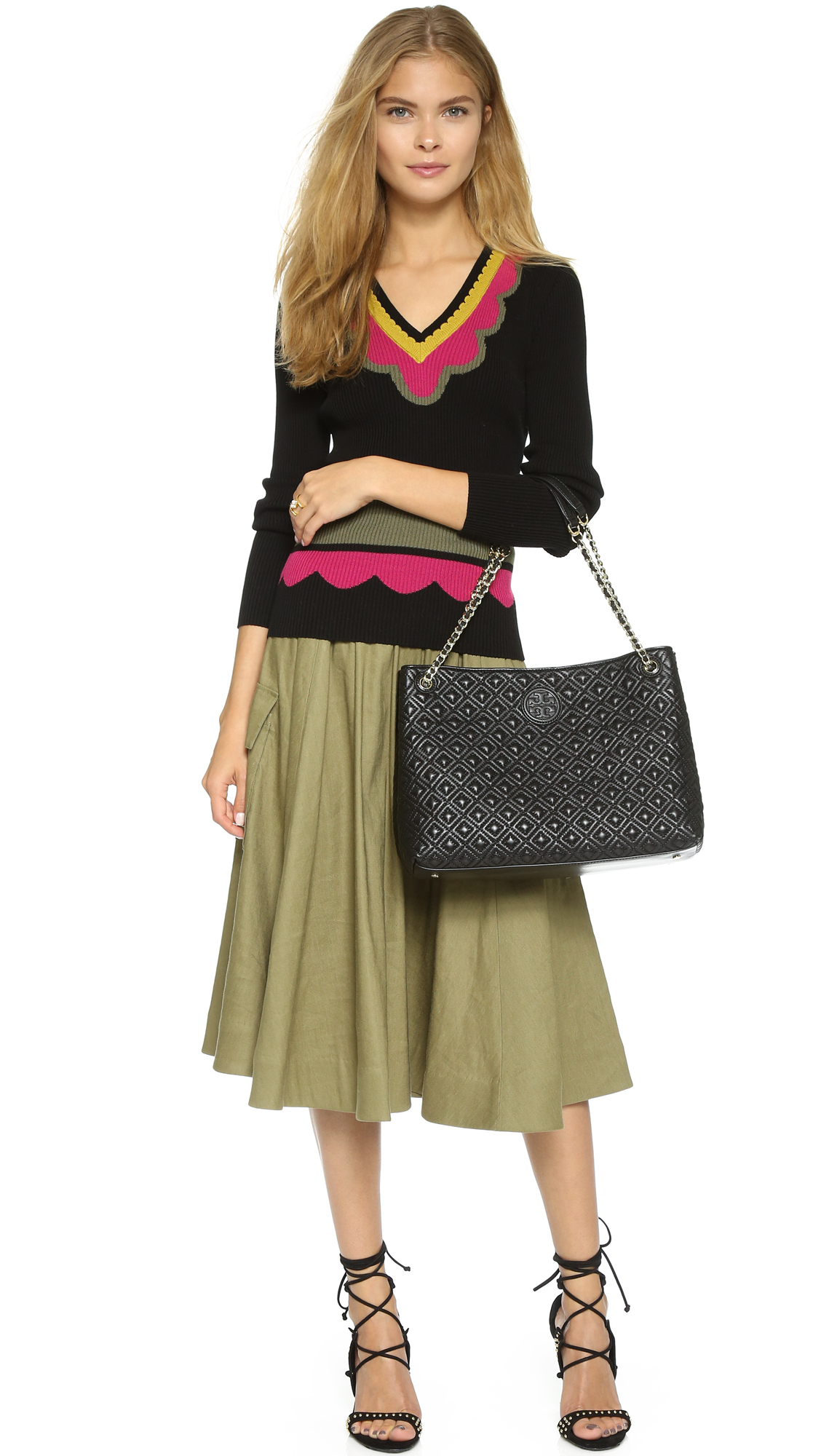 Tory Burch Marion Quilted Tote Shopbop