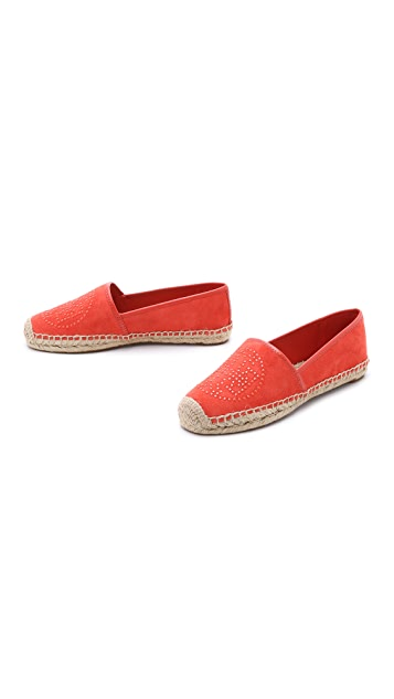 Tory Burch Kirby Suede Flat Espadrilles