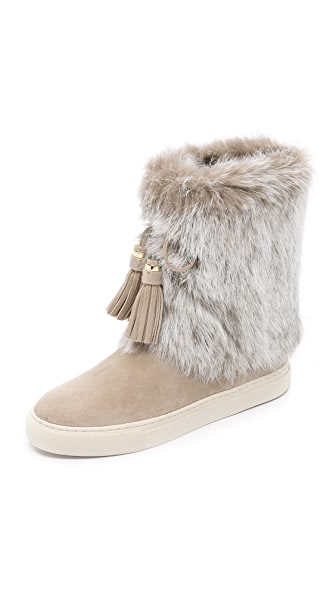 Tory Burch Anjelica Suede Fur Boots