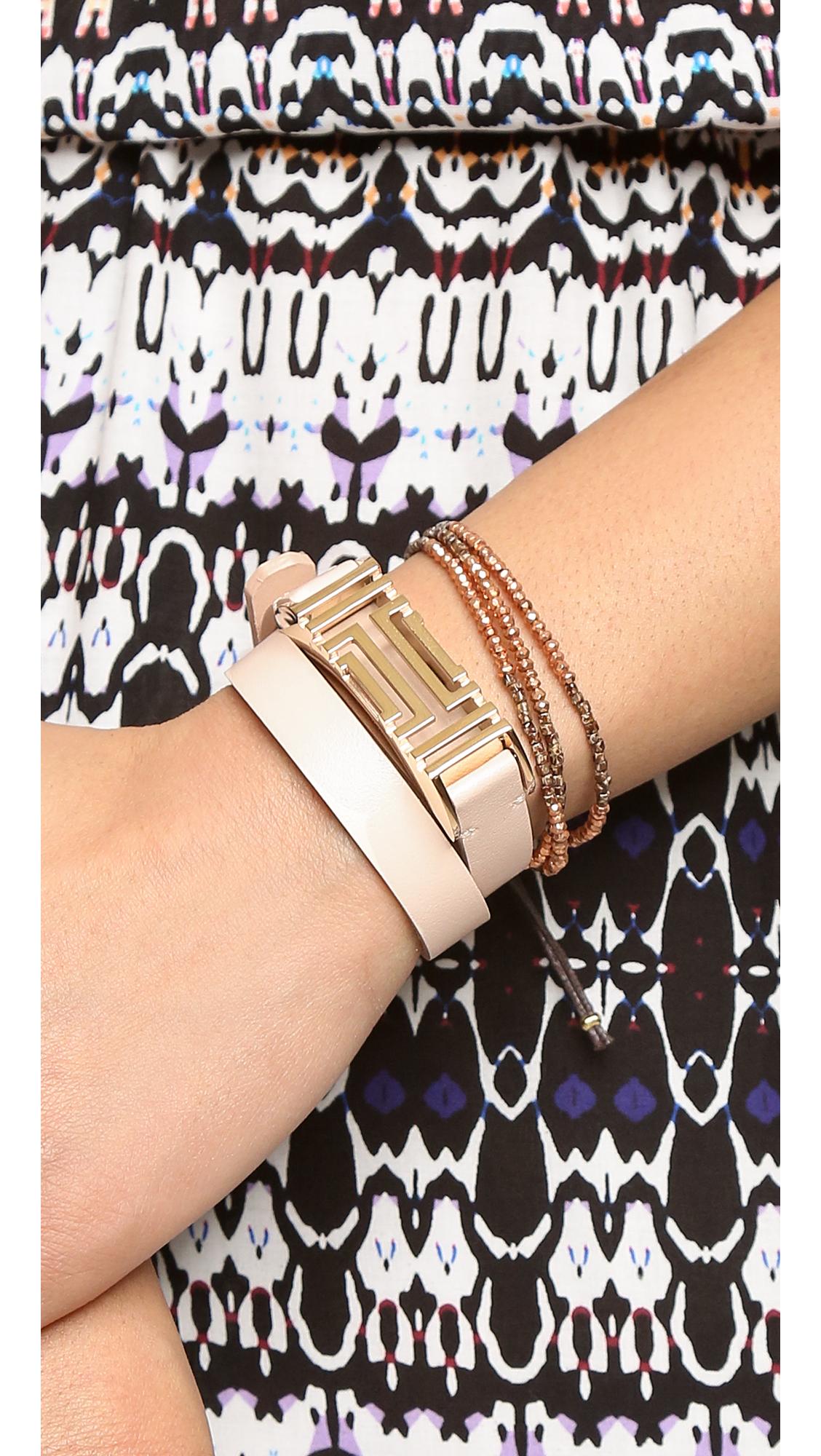533e51024fb Tory Burch Tory Burch for Fitbit Fret Double Wrap Bracelet