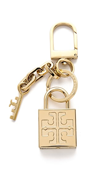 Tory Burch Padlock Key Fob