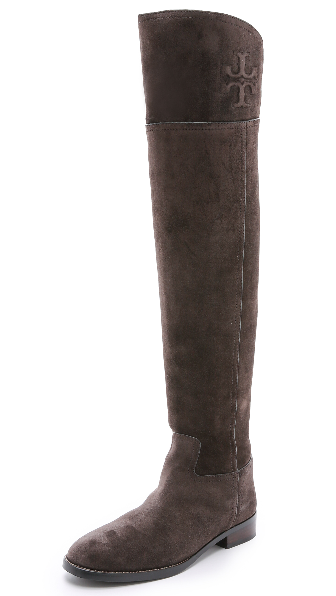 9afe7d39e9f7 Tory Burch Simone Suede Over the Knee Boots