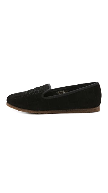Tory Burch Cowley Suede Slippers
