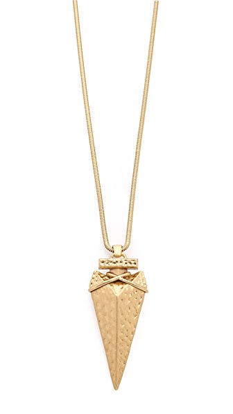 Tory burch arrowhead metal pendant necklace shopbop for Tory burch jewelry amazon