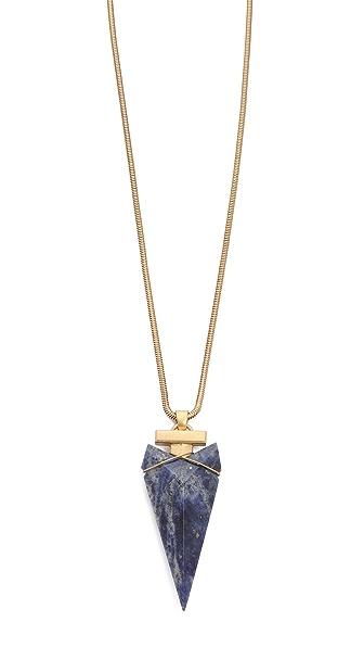 Tory Burch Arrowhead Stone Pendant Necklace