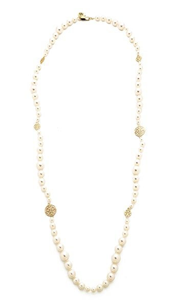 Tory burch evie long necklace 15 off first app purchase for Tory burch jewelry amazon