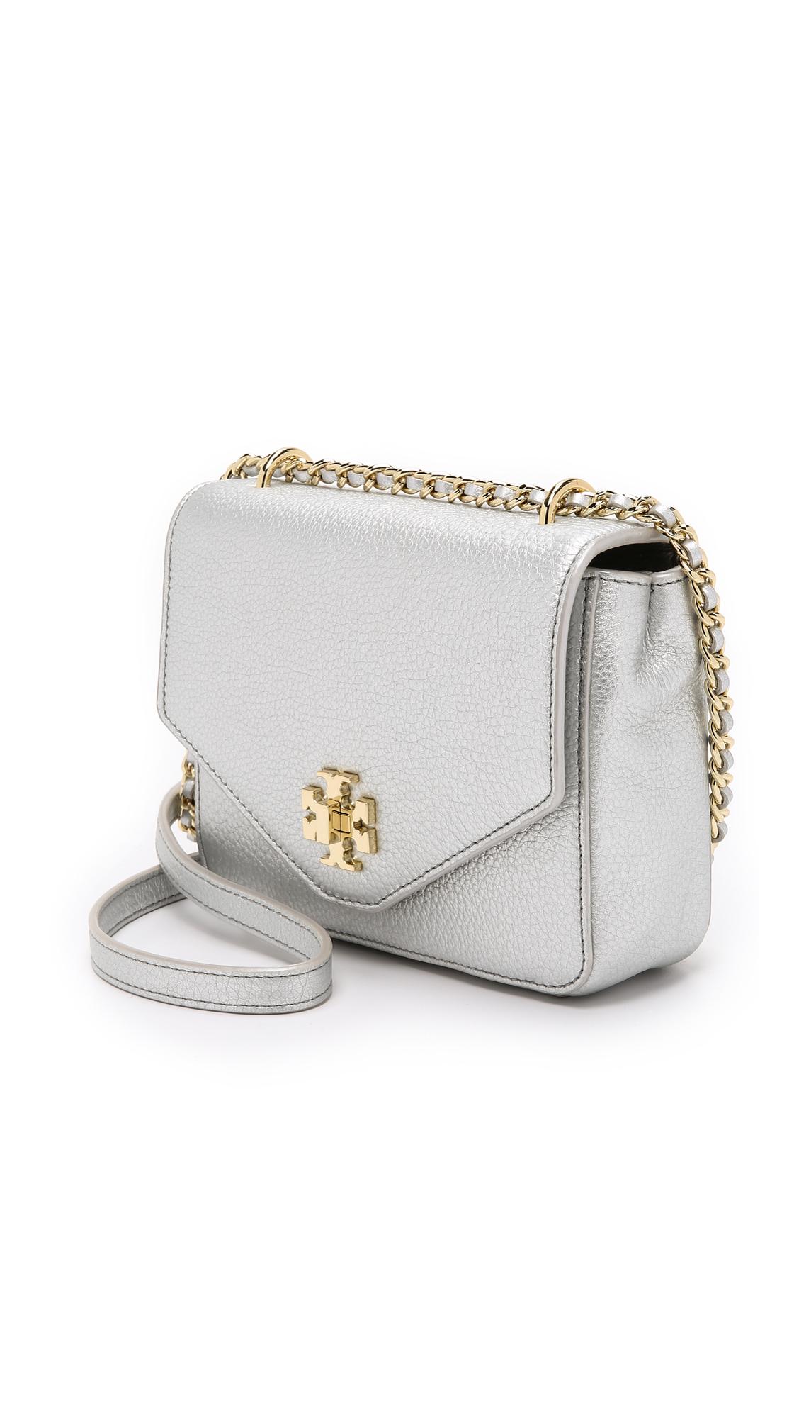 da4e8a47e3a Tory Burch Kira Metallic Mini Chain Cross Body Bag