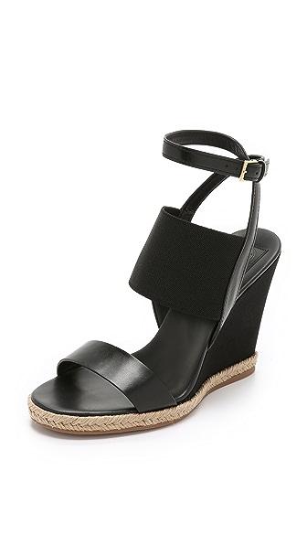 Kupi Tory Burch online i prodaja Tory Burch Raya Elastic Wedge Sandals Black cipele online
