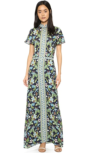 Tory Burch Silk Caftan Dress