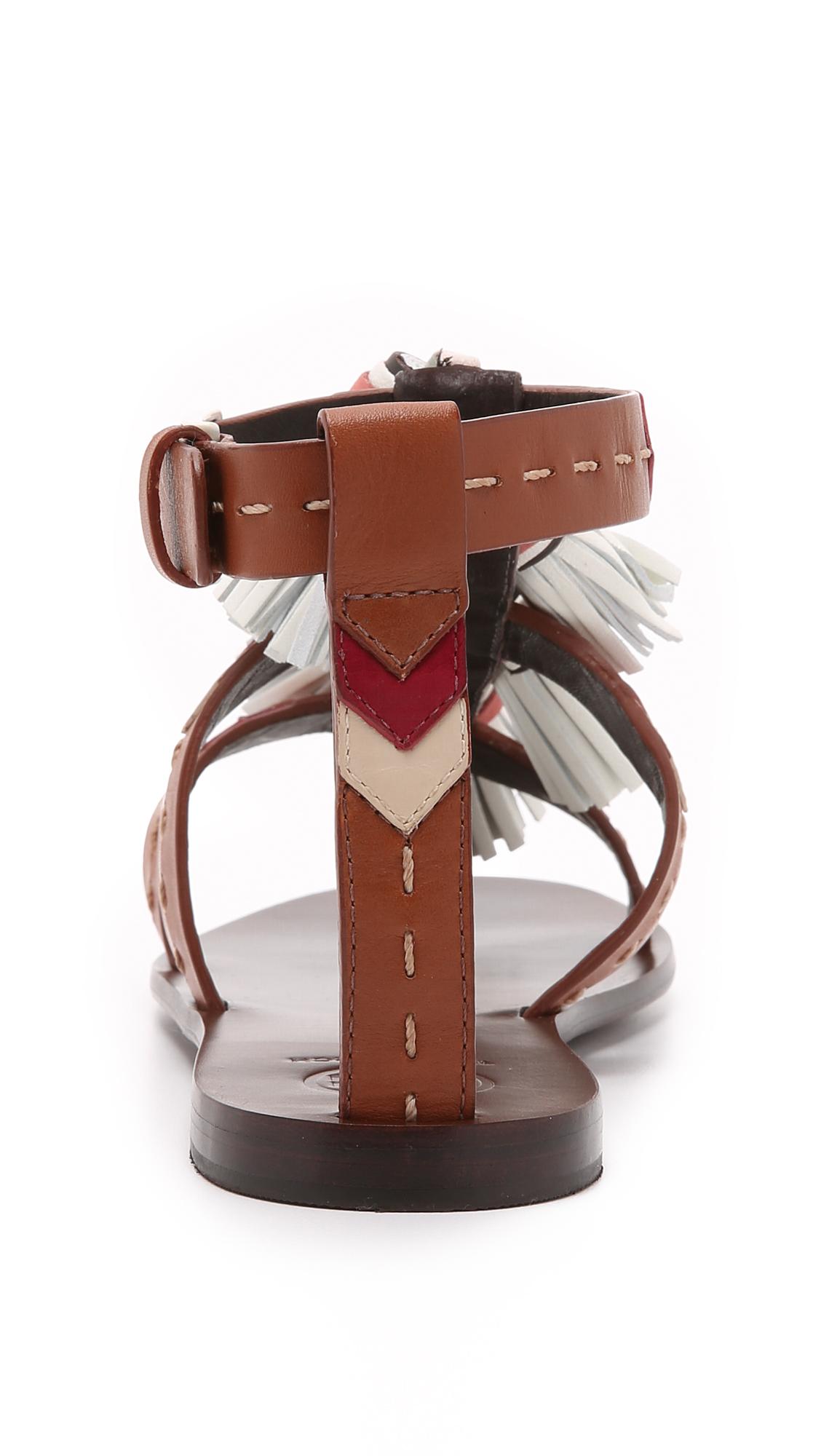 5665525723d27 Tory Burch Weaver Tassel Sandals