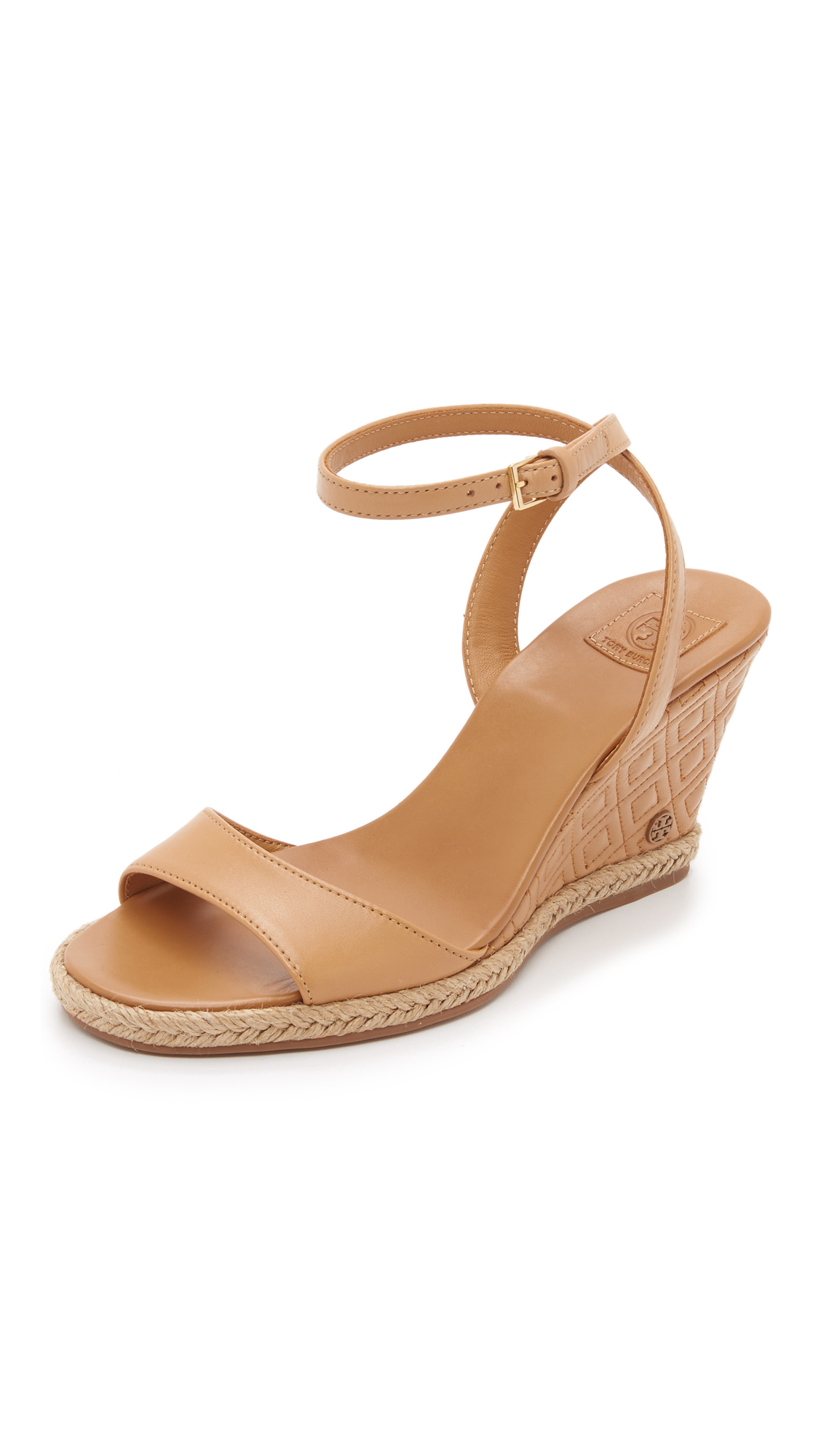 aad65ee9328 Tory Burch Marion Quilted Wedge Sandals