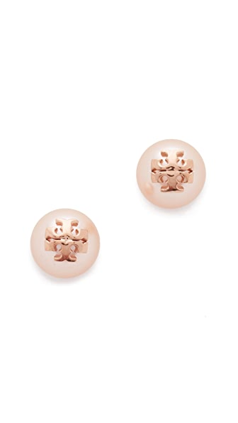 Tory Burch Swarovski Imitation Pearl Stud Earrings