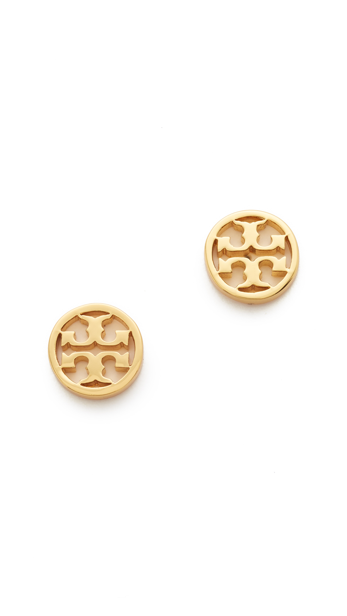 토리버치 로고 서클 귀걸이 Tory Burch Logo Circle Stud Earrings