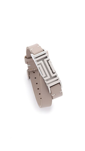 Tory Burch Tory Burch For Fitbit® Leather Bracelet