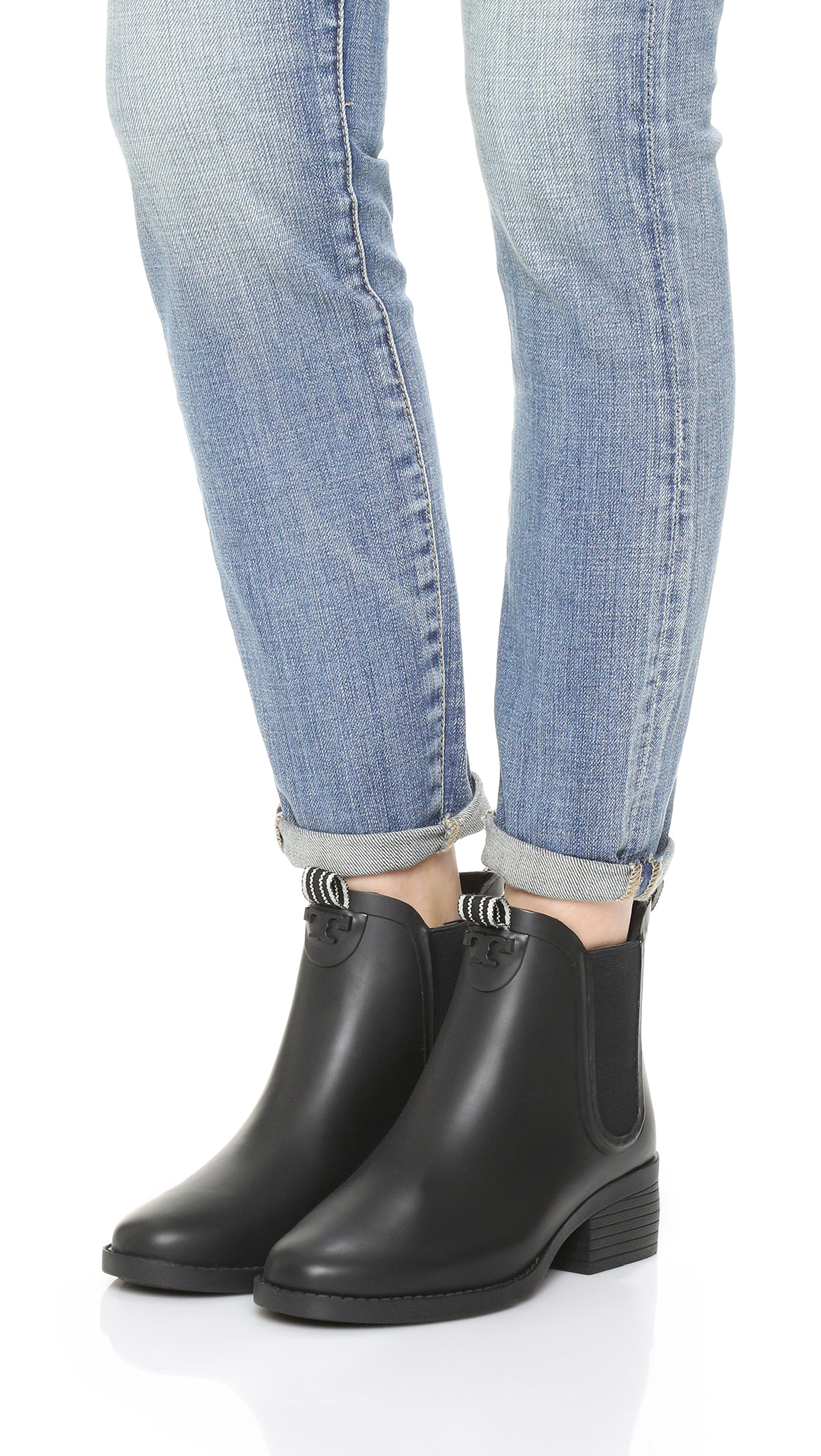 ee5d4ea20bc748 spain tory burch. womens black classic rain boots 3a808 ffbe8  new arrivals tory  burch classic rain booties shopbop save up to 25 use code stockup18 1b5f7