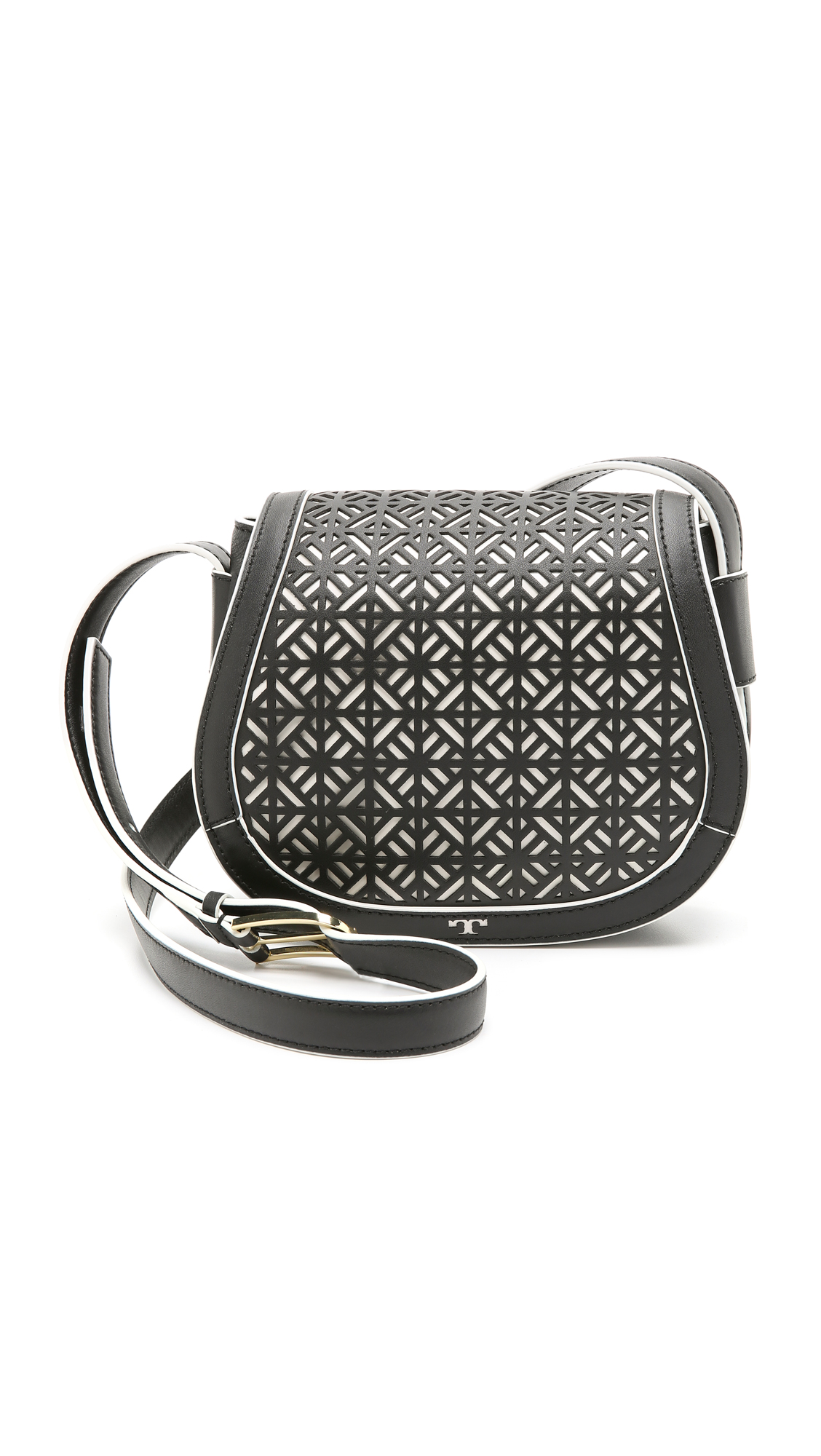 faa2fe6f94a0 Tory Burch Fret T Small Saddle Bag on PopScreen
