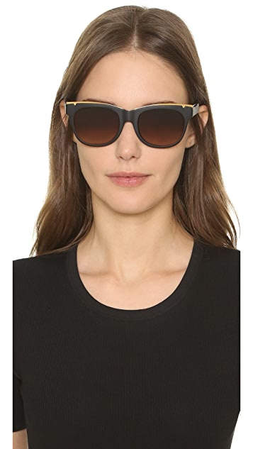 Tory Burch Modern Metal Sunglasses