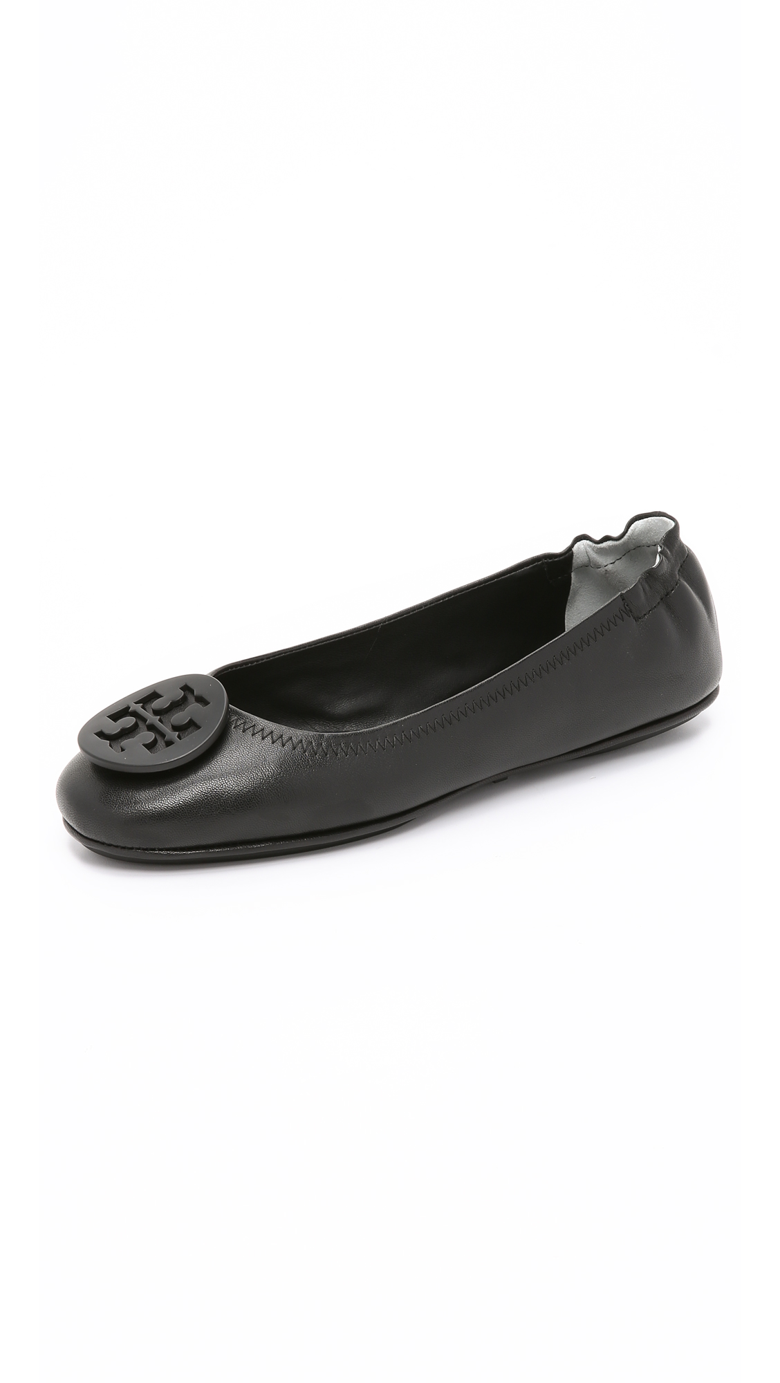 Tory Burch Minnie Travel Ballet Flats - Black