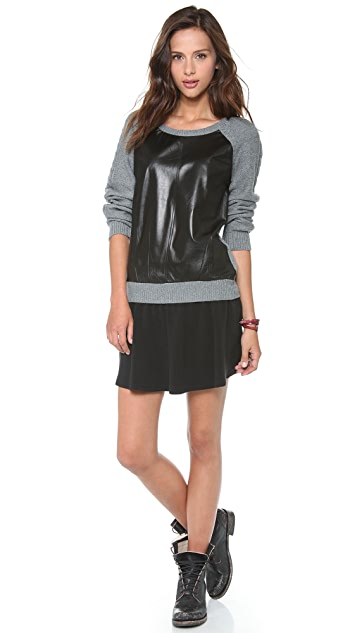 Townsen Evergreen Leather Sweater