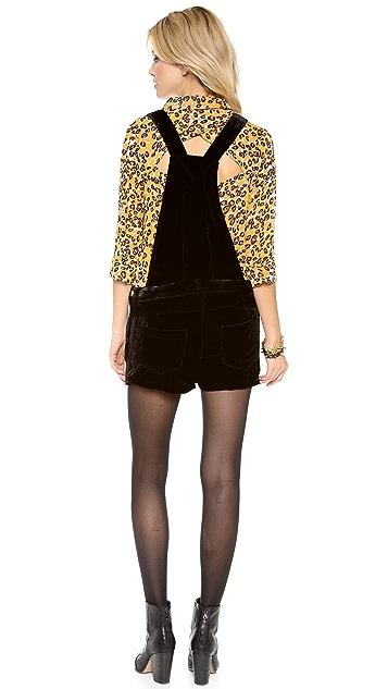 Townsen Velvet Overall Shorts