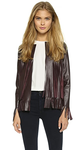 Theperfext April Jacket - Wine Leather