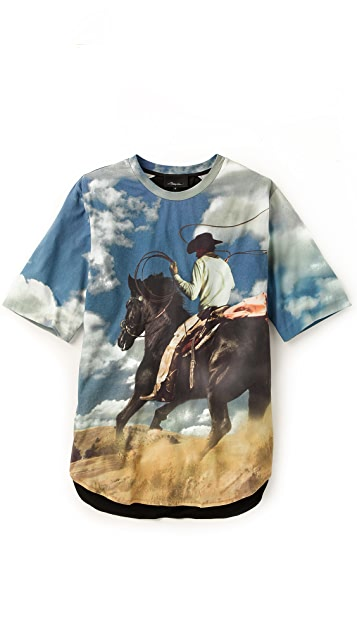 3.1 Phillip Lim Cowboy Print T-Shirt
