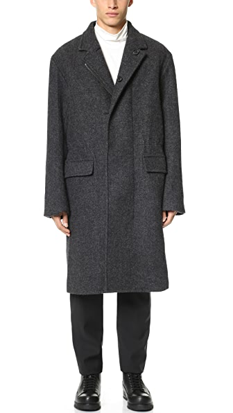 3.1 Phillip Lim Notched Collar Overcoat