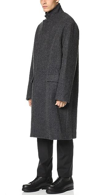 3.1 Phillip Lim Notched Collar Overcoat