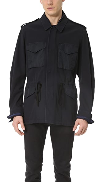 3.1 Phillip Lim Parka Jacket with Tromp L'Oeil Notched Collar