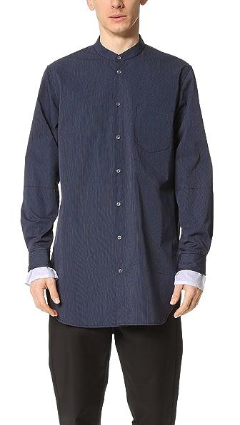 3.1 Phillip Lim Shirt with Tromp L'oeil Sleeve Cuffs