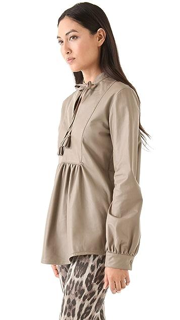 Tribune Standard Leather Tassel Bib Tunic