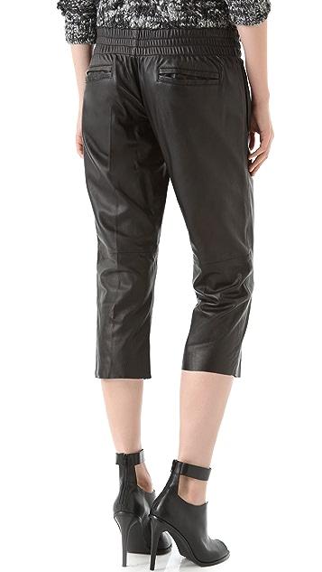 Tribune Standard Drawstring Leather Pants