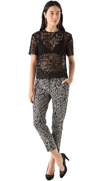 Tribune Standard Leopard Cropped Trousers