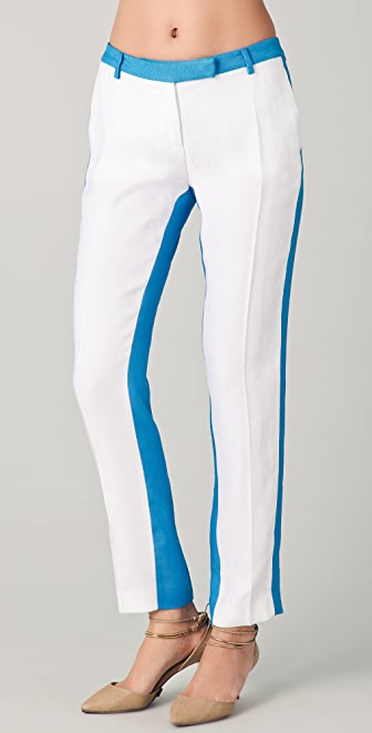 True Royal Slim Fit Colorblock Pants