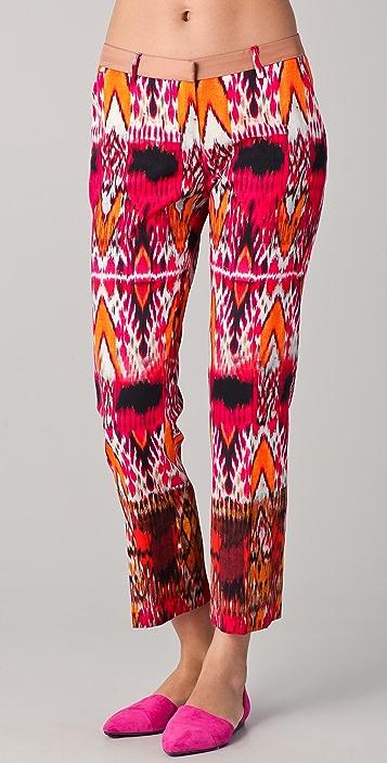 True Royal Ikat Print Pants