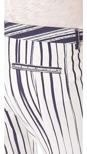 True Royal Striped Straight Leg Pants