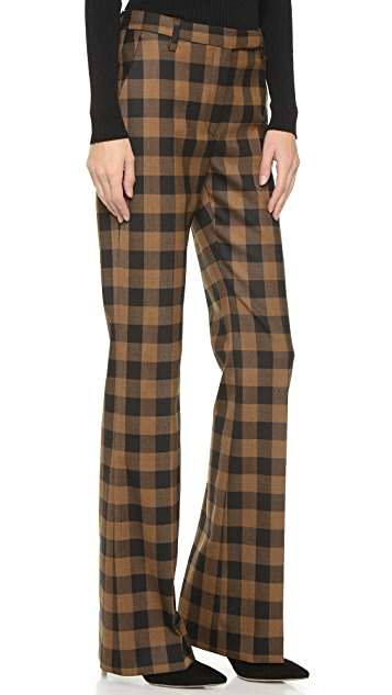 True Royal Flare Check Trousers