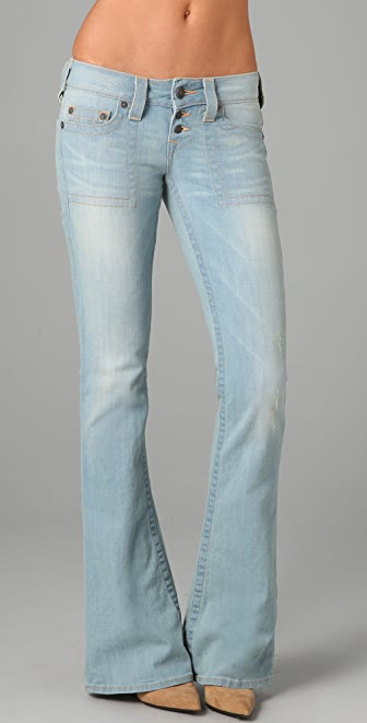 True Religion Morgan Wide Leg Flare Jeans