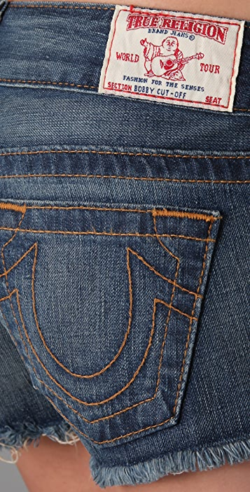 True Religion Bobby Cutoff Shorts