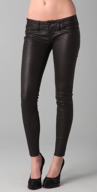 True Religion Stella Stretch Leather & Suede Pants