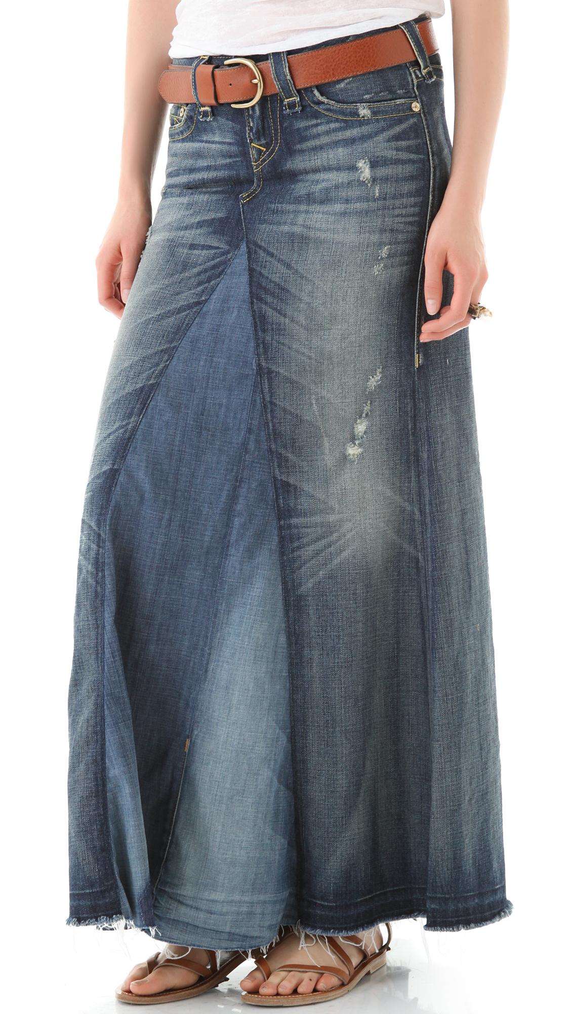 True Religion Dakota Denim Maxi Skirt | 15% off first app purchase ...